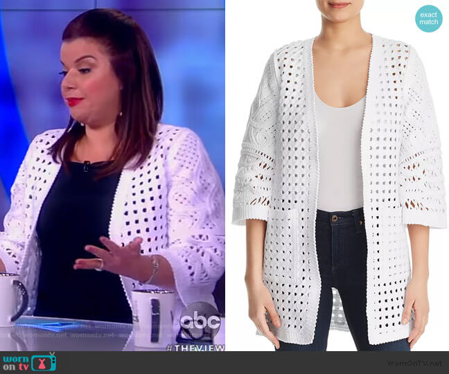 Jillian Basket Weave Cardigan by Kobi Halperin worn by Ana Navarro  on The View