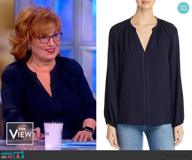 Split-Neck Kirna Blouse by Kobi Halperin worn by Joy Behar (Joy Behar) on The View