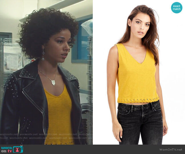 Lace Up Crop Tank by True Religion worn by Maia Roberts (Alisha Wainwright ) on Shadowhunters