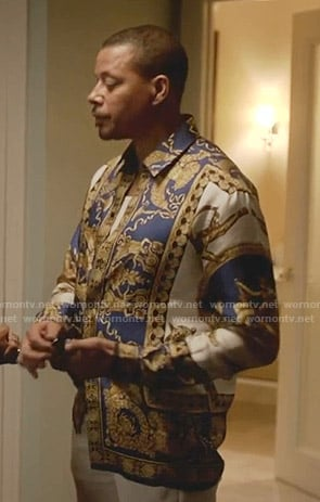 Lucious's blue printed shirt on Empire