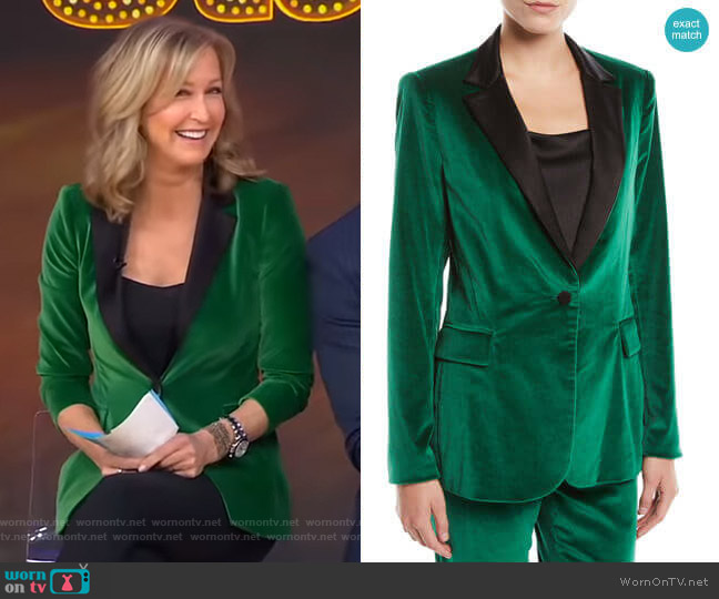Macey Velvet Blazer by Alice + Olivia worn by Lara Spencer  on Good Morning America