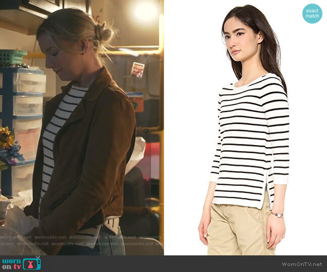 Seaside Zip Up Sweater by Madewell worn by Nicolette Nevin (Emily VanCamp) on The Resident