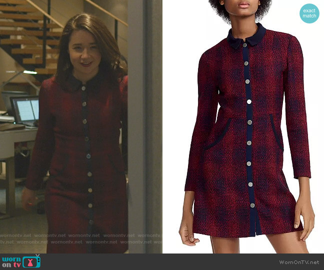 Renitia Dress by Maje worn by Marissa Gold (Sarah Steele) on The Good Fight