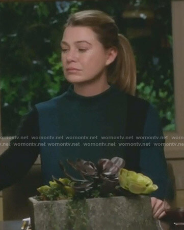 Meredith's wide stripe sweater on Grey's Anatomy