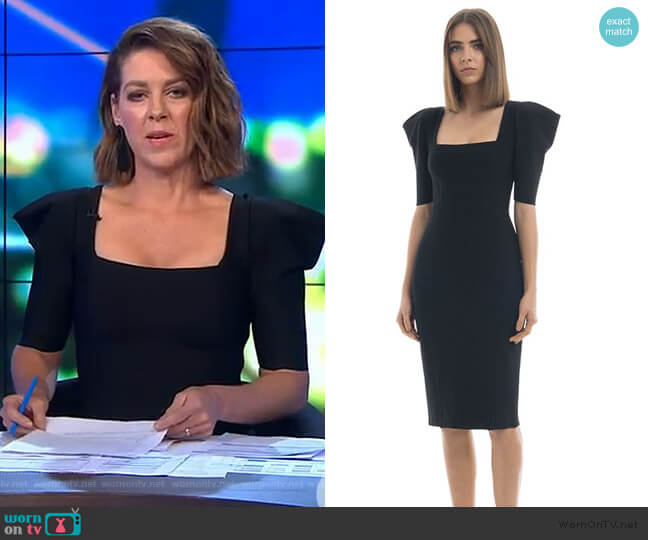 Roxanne Dress by Misha Collection worn by Gorgi Coghlan (Gorgi Coghlan) on The Project