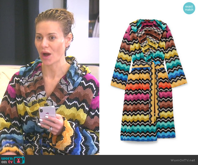 Hooded Cotton-Terry Robe by Missoni Home worn by Dorit Kemsley  on The Real Housewives of Beverly Hills