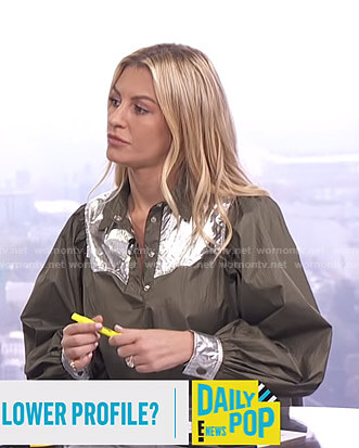 Morgan's metallic panel top on E! News Daily Pop