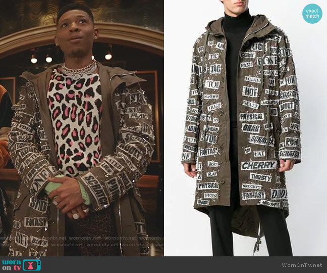 Safety Pin Hooded Parka by Moschino worn by Hakeem Lyon (Bryshere Y. Gray) on Empire