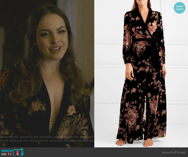 Kensington Velvet Robe by Myla worn by Fallon Carrington (Elizabeth Gillies) on Dynasty