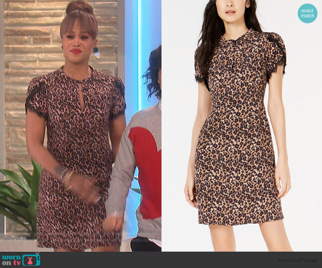Lace-Trim Dress by Nanette Lepore worn by Eve  on The Talk