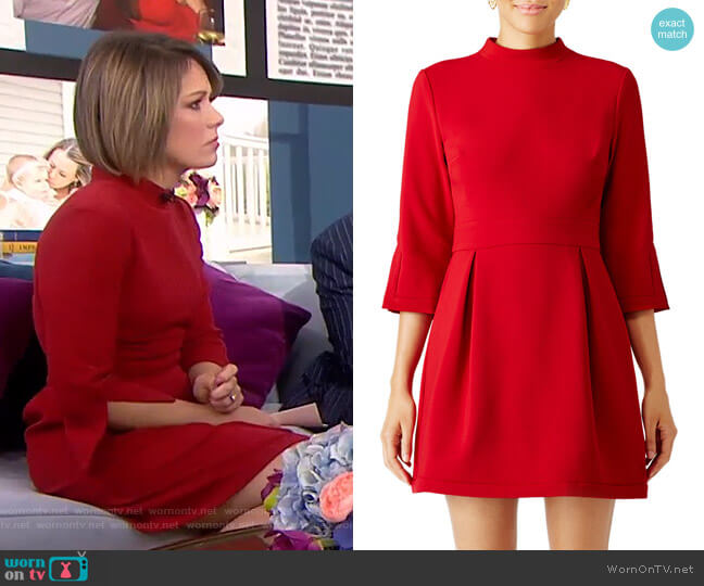 Artelier Mock Neck Dress by Nicole Miller worn by Dylan Dreyer  on Today