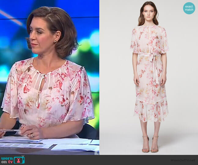 Sloane Pleat Detail Viscose Dress by Once Was worn by Gorgi Coghlan (Gorgi Coghlan) on The Project