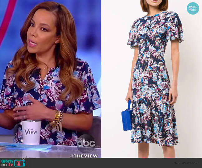 Floral Flared Midi Dress by Prabal Gurung worn by Sunny Hostin  on The View