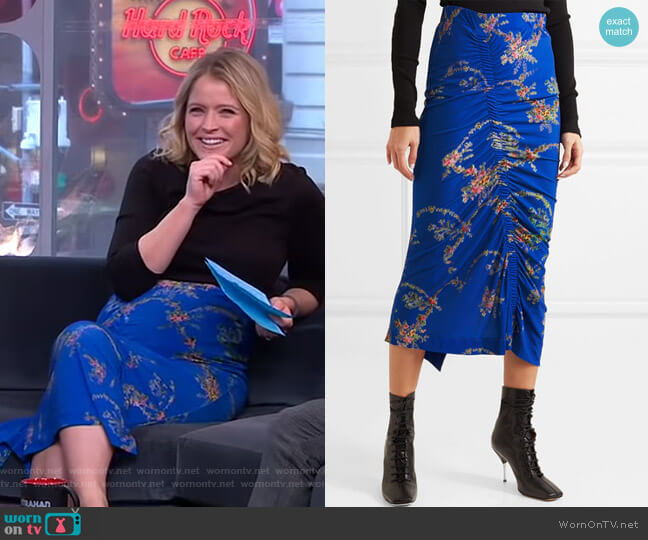 Tracy Skirt by Preen by Thornton Bregazzi worn by Sara Haines (Sara Haines) on Good Morning America