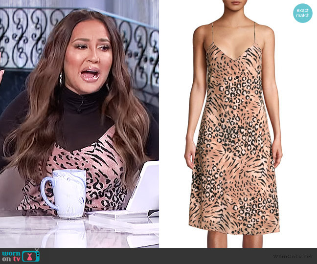 Cicely Silk Faded Leopard Print Dress by Paige worn by Adrienne Houghton  on The Real