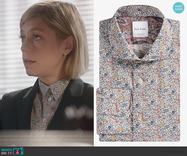 Micro Floral Liberty Print Shirt by Paul Smith worn by Kate Littlejohn (Susannah Flood) on For the People