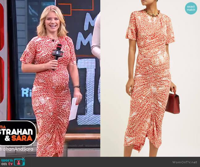 Mindi Dress by Preen by Thornton Bregazzi worn by Sara Haines  on Good Morning America
