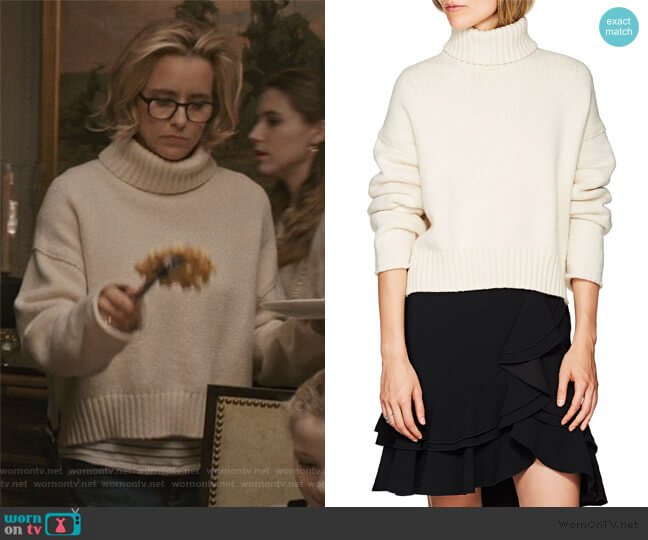 Stripe Turtleneck Sweater by Proenza Schouler worn by Elizabeth McCord (Téa Leoni) on Madam Secretary