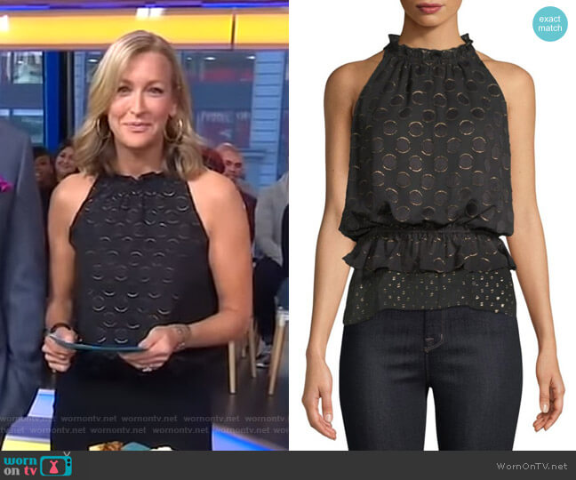 Bobbi Top by Ramy Brook worn by Lara Spencer  on Good Morning America
