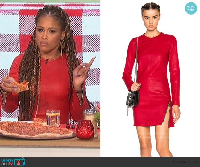 Yves Leather Dress by RTA worn by Eve  on The Talk