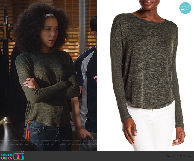 Amelia Tee by Rag & Bone worn by Allison Adams (Jasmin Savoy Brown) on For the People