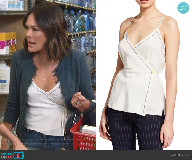 ina Wrap Tank Top by Rag & Bone worn by Camille (Lindsay Price) on Splitting Up Together