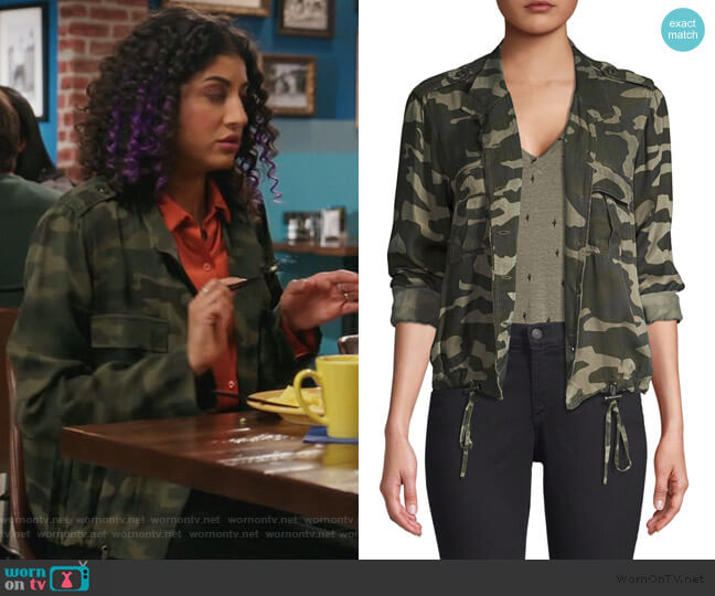 Rowan Camo Jacket by Rails worn by Heather Davis (Vella Lovell) on Crazy Ex-Girlfriend
