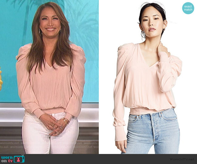 Alexis Top by Ramy Brook worn by Carrie Inaba  on The Talk