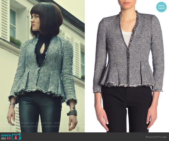 Lurex Tweed Knit Jacket by Rebecca Taylor worn by Clary Fray (Katherine McNamara) on Shadowhunters