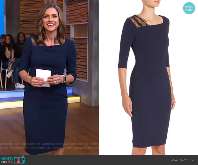 Ingram Stretch Viscose Lace Dress by Roland Mouret worn by Paula Faris (Paula Faris) on Good Morning America