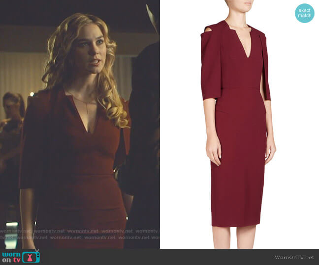 Roland Mouret Queensbury Dress worn by Tessa Mossey on Shadowhunters