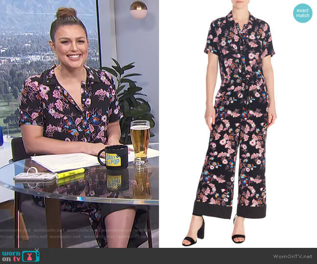 Olivier Jumpsuit by Sandro worn by Carissa Loethen Culiner (Carissa Loethen Culiner) on E! News