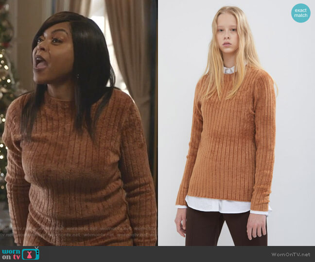 Dion Sweater by Sies Marjan worn by Cookie Lyon (Taraji P. Henson) on Empire