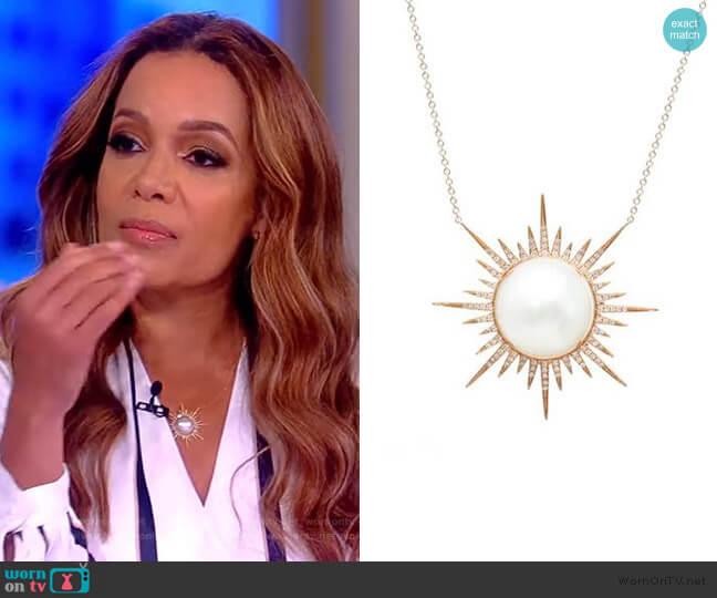 Sunburst Necklace by Samira 13 worn by Sunny Hostin  on The View