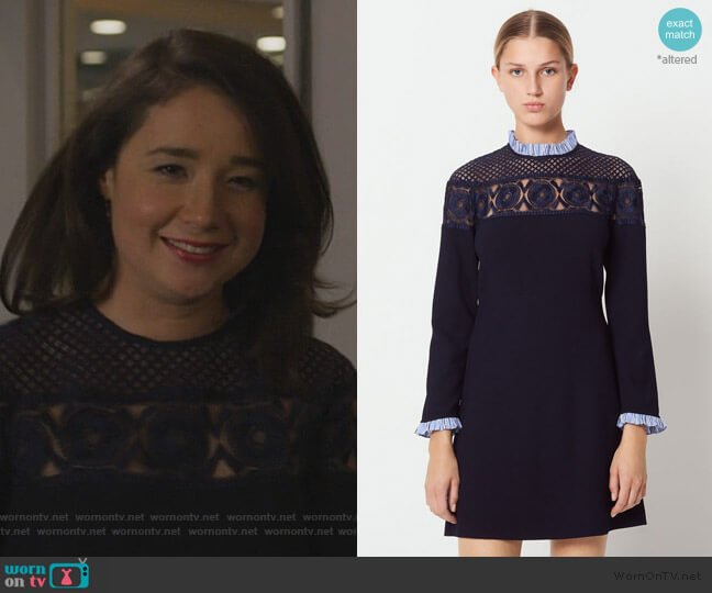 Short Dress with High Neck by Sandro worn by Marissa Gold (Sarah Steele) on The Good Fight