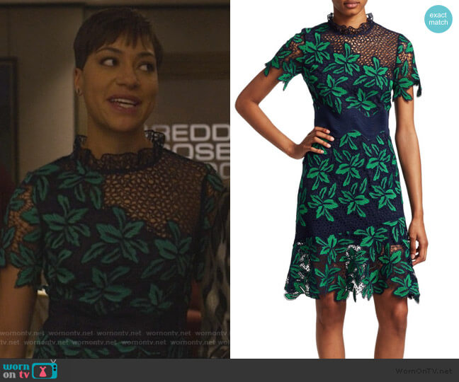 Mosaic Floral Crochet Dress by Sea worn by Lucca Quinn (Cush Jumbo) on The Good Fight