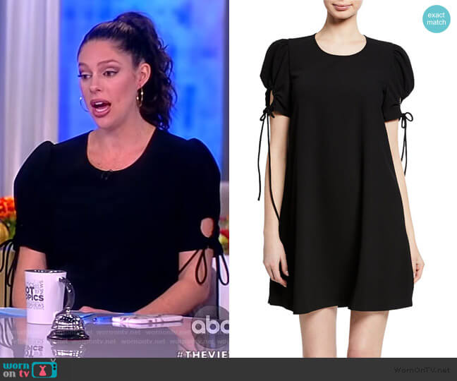 Crewneck Puff-Sleeve Mini Dress by See by Chloe worn by Abby Huntsman  on The View