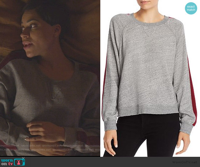 Color Block Stripe Sweatshirt by Splendid worn by Lucca Quinn (Cush Jumbo) on The Good Fight