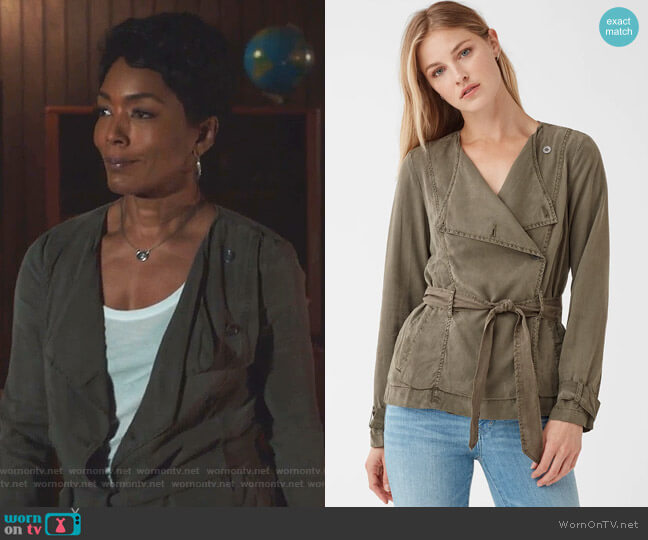 Wilder Tencel Double breasted Jacket by Splendid worn by Athena Grant (Angela Bassett) on 9-1-1