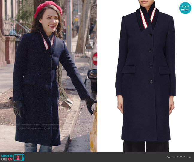 Stella McCartney Nyla Coat worn by Cara Bloom (Violett Beane) on God Friended Me