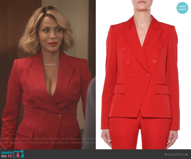 Faux Double-Breasted Tailored Wool Blazer by Stella McCartney worn by Giselle (Nicole Ari Parker) on Empire
