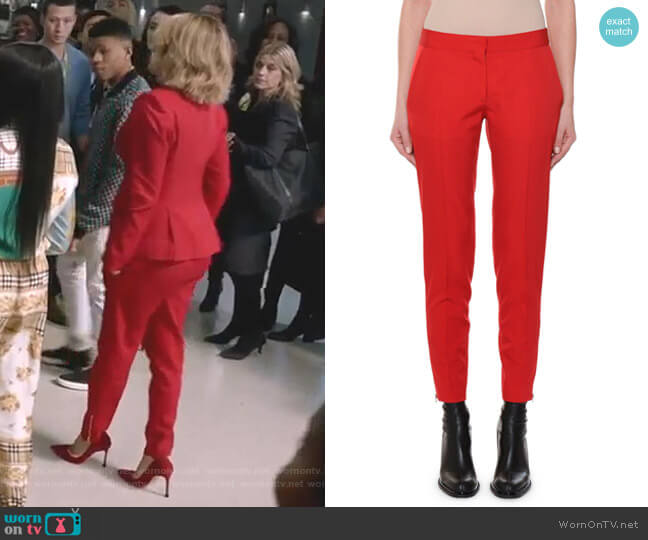 Flat-Front Slim-Leg Ankle Pants  Stella McCartney  worn by Giselle (Nicole Ari Parker) on Empire