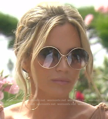 Teddi's round sunglasses on The Real Housewives of Beverly Hills
