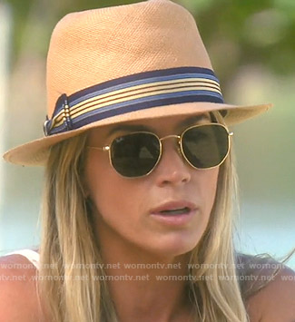 Teddi's gold frame sunglasses on The Real Housewives of Beverly Hills