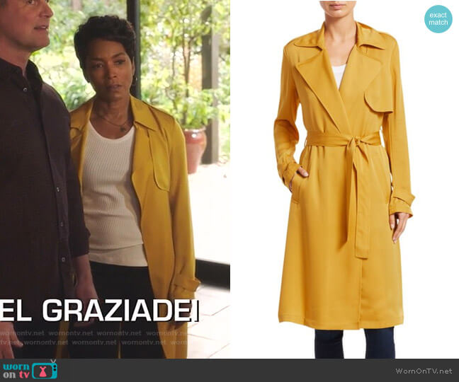 Oaklane Trench Coat by Theory worn by Athena Grant (Angela Bassett) on 9-1-1