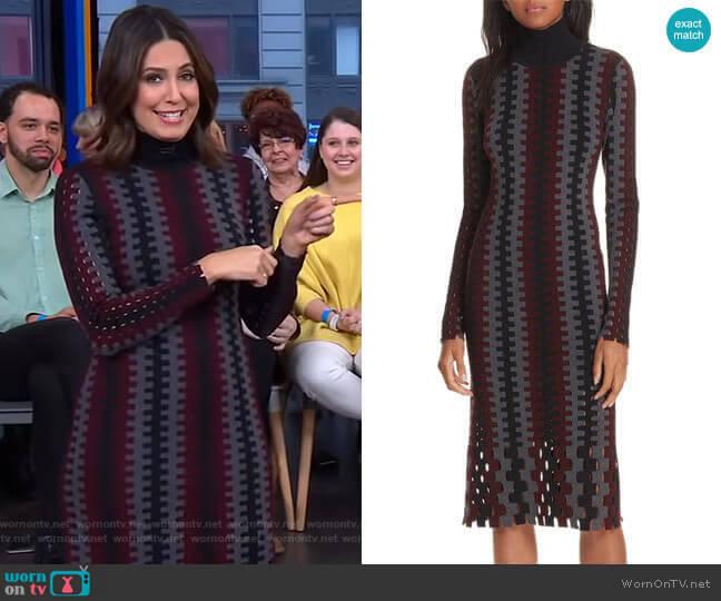 Turtleneck Merino Wool Midi Dress by Diane von Furstenberg worn by Cecilia Vega (Cecilia Vega) on Good Morning America
