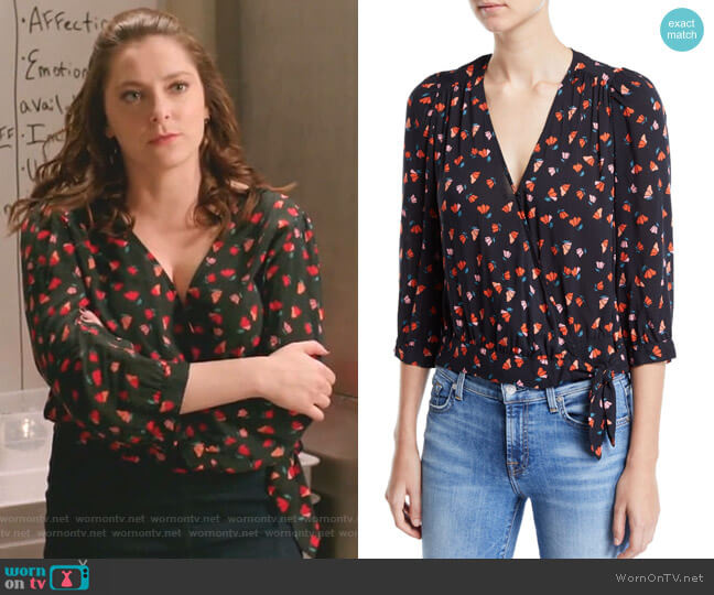 Rayla Top by Velvet worn by Rebecca Bunch (Rachel Bloom) on Crazy Ex-Girlfriend