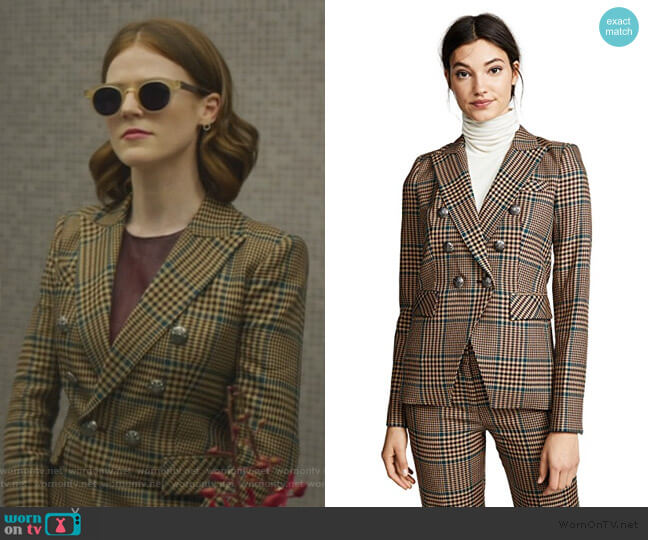Miller Jacket by Veronica Beard worn by Maia Rindell (Rose Leslie) on The Good Fight