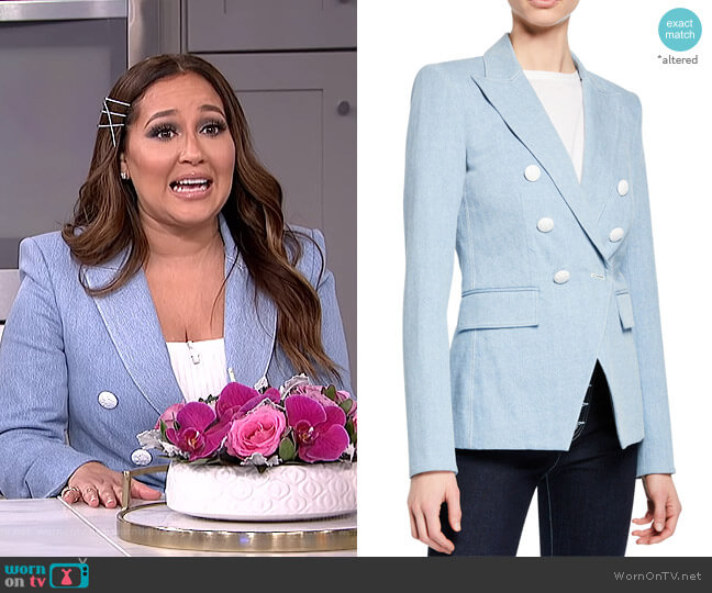 Miller Dickey Jacket by Veronica Beard worn by Adrienne Houghton  on The Real