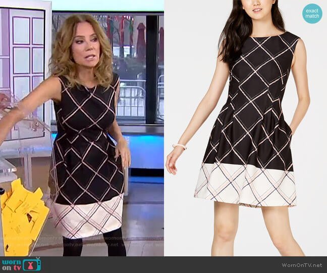 Printed Fit & Flare Dress by Vince Camuto worn by Kathie Lee Gifford  on Today